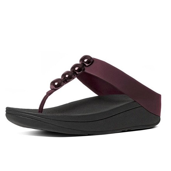 35a31c331d16f7 Fitflop Shoes - Fitflop ROLA Leather Toe-Thong Sandals Hot Cherry